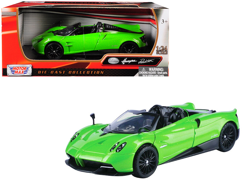 Pagani Huayra Roadster Green 1/24 Diecast Model Car Motormax 79354