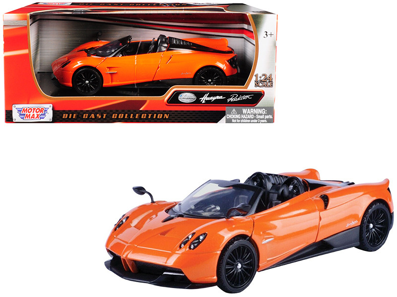 Pagani Huayra Roadster Orange 1/24 Diecast Model Car Motormax 79354