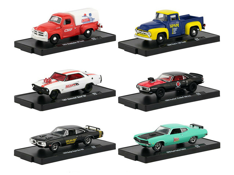 Drivers 6 Cars Set Release 56 Blister Packs 1/64 Diecast Model Cars M2 Machines 11228-56