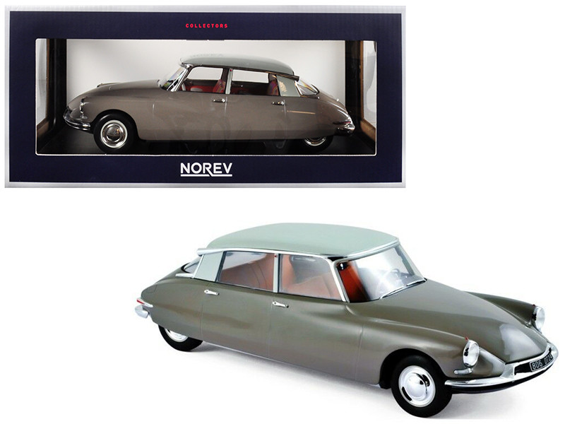 1959 Citroen DS 19 Light Brown Carrare White Top 1/18 Diecast Model Car Norev 181481