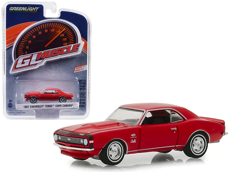 1967 Chevrolet Yenko Copo Camaro Rally Red Greenlight Muscle Series 21 1/64 Diecast Model Car Greenlight 13230 A