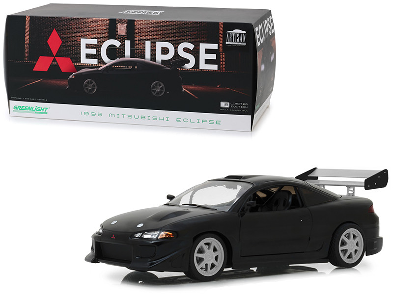 1995 Mitsubishi Eclipse Black 1/18 Diecast Model Car Greenlight 19040