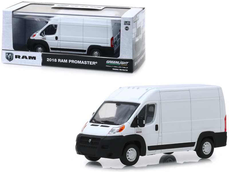 2018 Dodge Ram ProMaster 2500 Cargo Van High Roof Bright White 1/43 Diecast Model Greenlight 86152