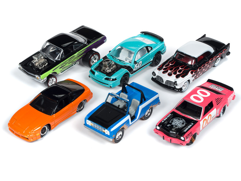Street Freaks 2019 Release 1 Set A 6 Cars Limited Edition 3000 pieces Worldwide 1/64 Diecast Models Johnny Lightning JLSF012 A