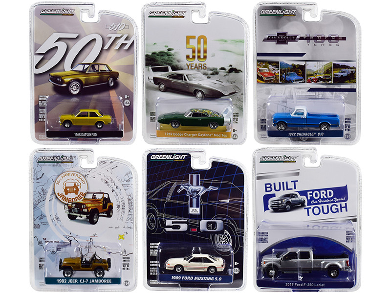 Greenlight Anniversary Collection Series 7 Set 6 Cars 1/64 Diecast Models Greenlight 27970