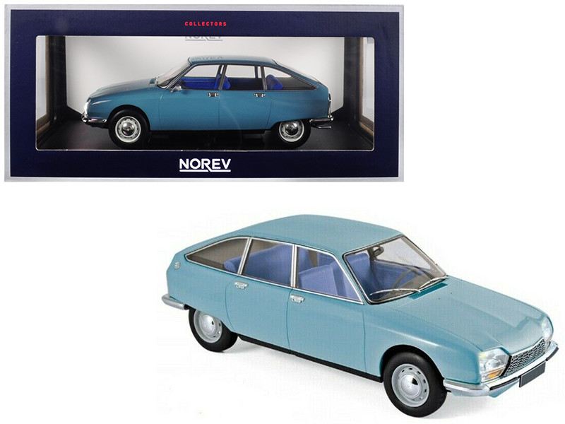 1972 Citroen GS Club Camargue Blue 1/18 Diecast Model Car Norev 181625