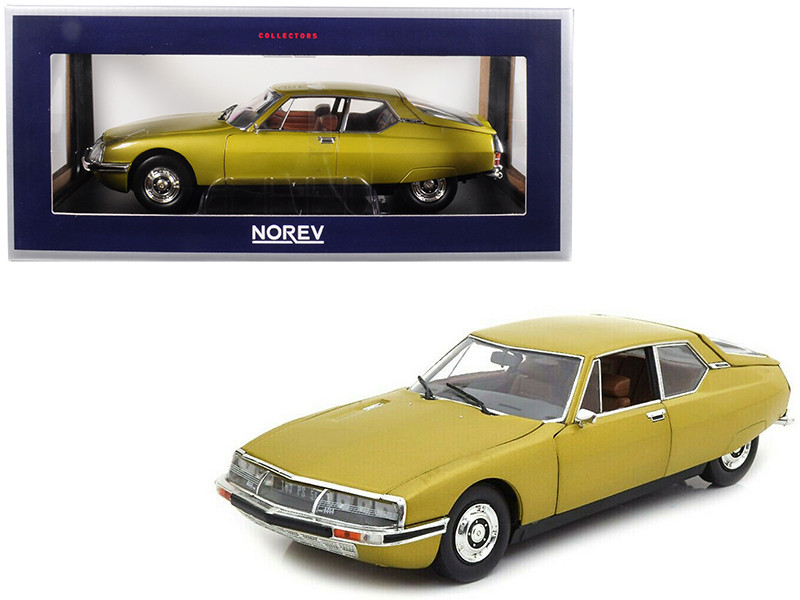 1971 Citroen SM Golden Leaf Gold 1/18 Diecast Model Car Norev 181730