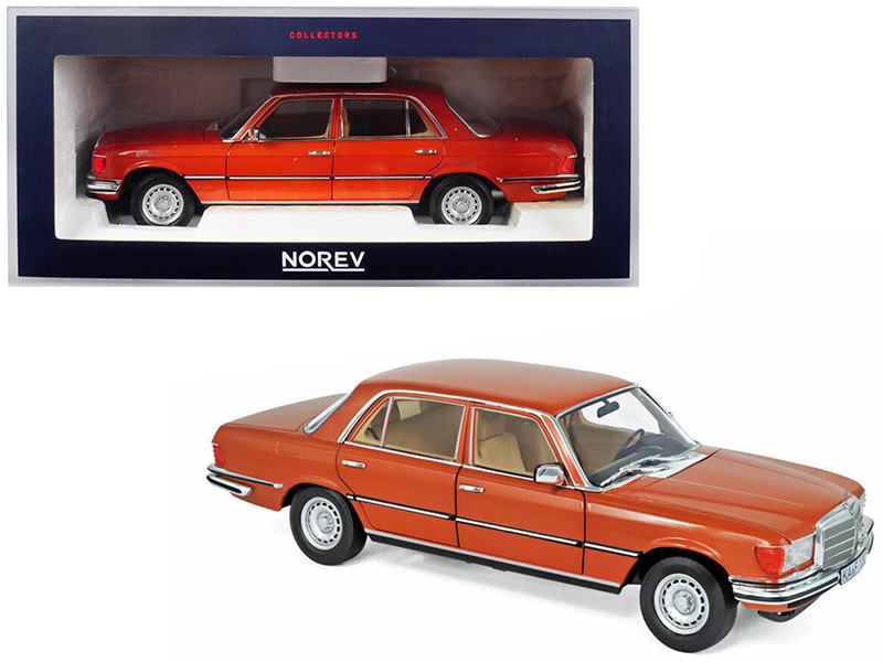 1976 Mercedes Benz 450 SEL 6.9 Metallic Orange 1/18 Diecast Model Car Norev 183459