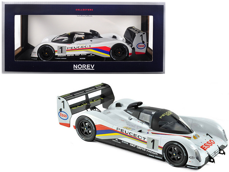 Peugeot 905 #1 Dalmas Warwick Blundell Winners 24 Hours Le Mans France 1992 1/18 Diecast Model Car Norev 184770