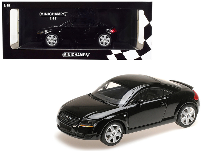 1998 Audi TT Coupe Black Limited Edition 300 pieces Worldwide 1/18 Diecast Model Car Minichamps 155017021