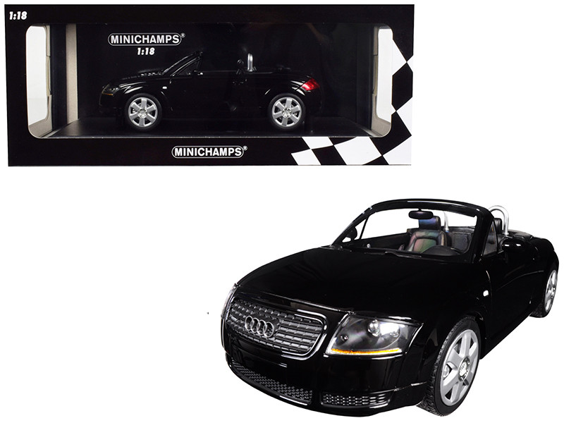 1999 Audi TT Roadster Black Limited Edition 300 pieces Worldwide 1/18 Diecast Model Car Minichamps 155017030