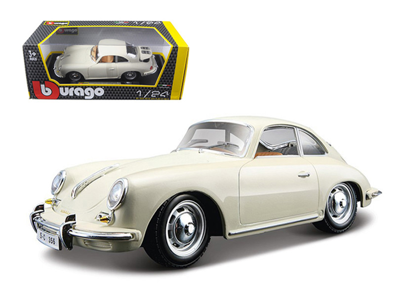 1961 Porsche 356 B Coupe Ivory / White 1/24 Diecast Model Car Bburago 22079