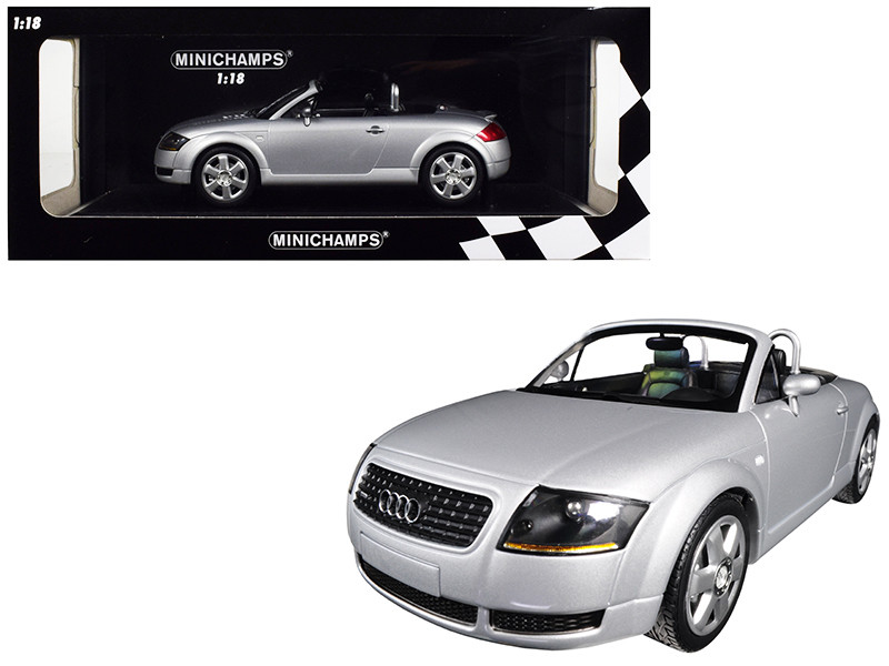 1999 Audi TT Roadster Silver Limited Edition 300 pieces Worldwide 1/18 Diecast Model Car Minichamps 155017031