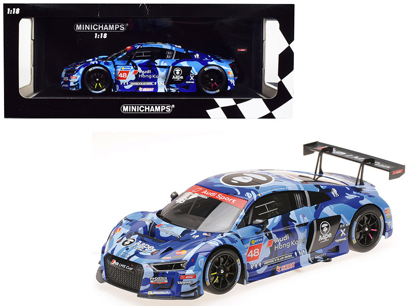 Audi R8 LMS #48 Edoardo Mortara Winner Audi R8 LMS Cup 2016 Sepang Race 2 Aape Phoenix Racing Asia Limited Edition 300 pieces Worldwide 1/18 Diecast Model Car Minichamps 155161148