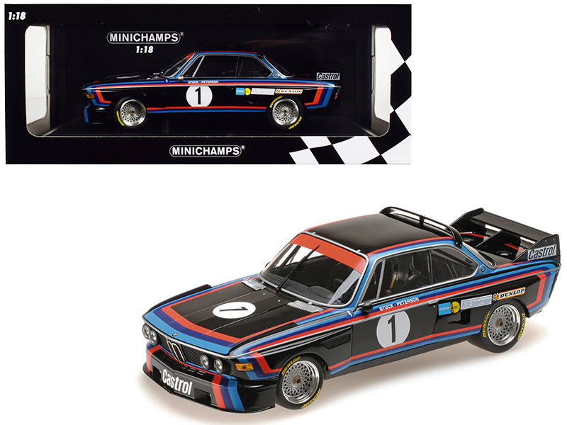 BMW 3.0 CSL #1 Hans-Joachim Stuck Winner Norisring Trophae 1974 BMW Motorsport Limited Edition 468 pieces Worldwide 1/18 Diecast Model Car Minichamps 155742691