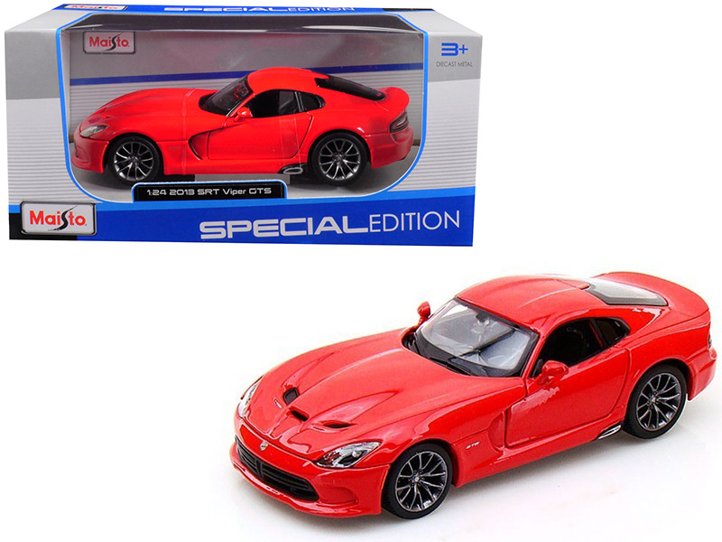 2013 Dodge Viper SRT GTS Red 1/24 Diecast Model Car Maisto 31271