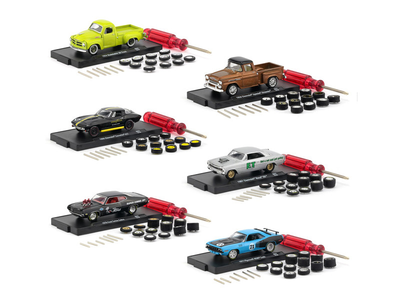 Auto Wheels Release 7 6 Cars Set IN BLISTER PACKS 1/64 Diecast Model Cars M2 Machines 34001-07