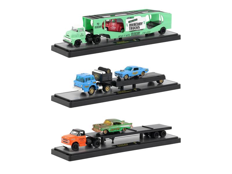 Auto Haulers Release 33 3 Trucks Set 1/64 Diecast Models M2 Machines 36000-33