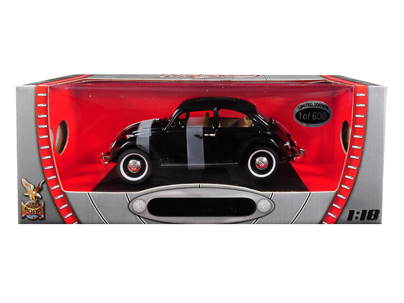1967 Volkswagen Beetle Black Limited Edition 600 pieces Worldwide 1/18 Diecast Model Road Signature 82078