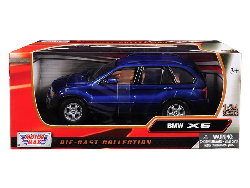 BMW X5 Blue 1/24 Diecast Model Car Motormax 73254