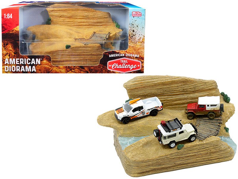 Trail Challenge Resin Diorama 1/64 Scale Models American Diorama 38431