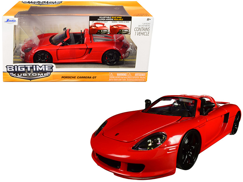 2005 Porsche Carrera GT Red 1/24 Diecast Car Model Jada 96955