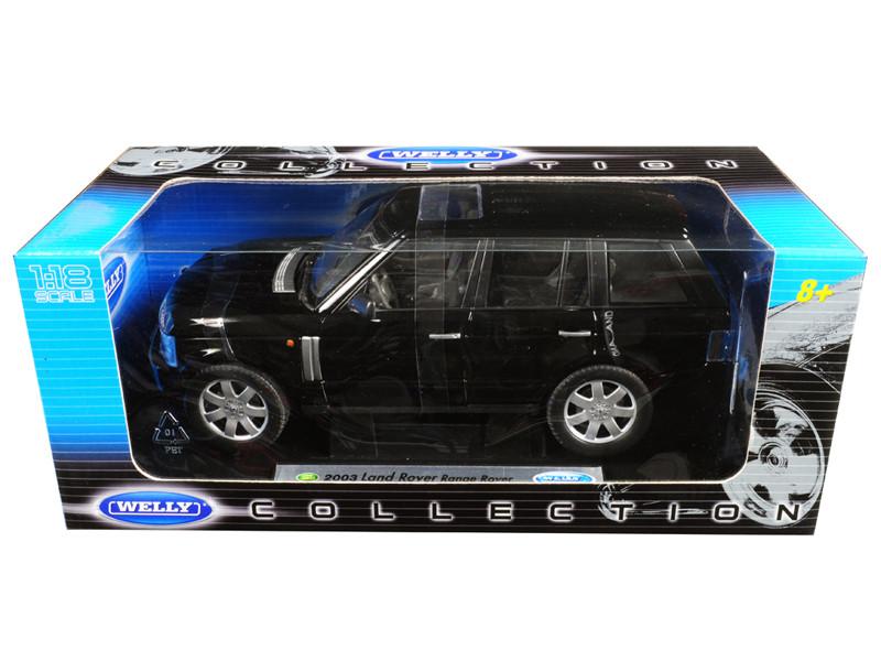 2003 Land Rover Range Rover Black 1/18 Diecast Model Car Welly 12536