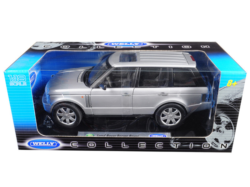 2003 Land Rover Range Rover Silver 1/18 Diecast Model Car Welly 12536