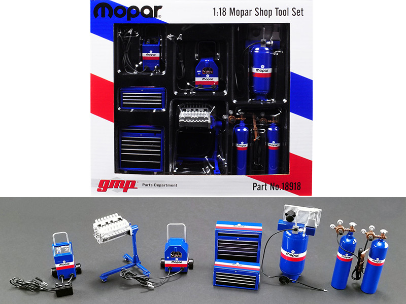 Garage Shop Tools MOPAR Set 6 pieces 1/18 Diecast Replica GMP 18918