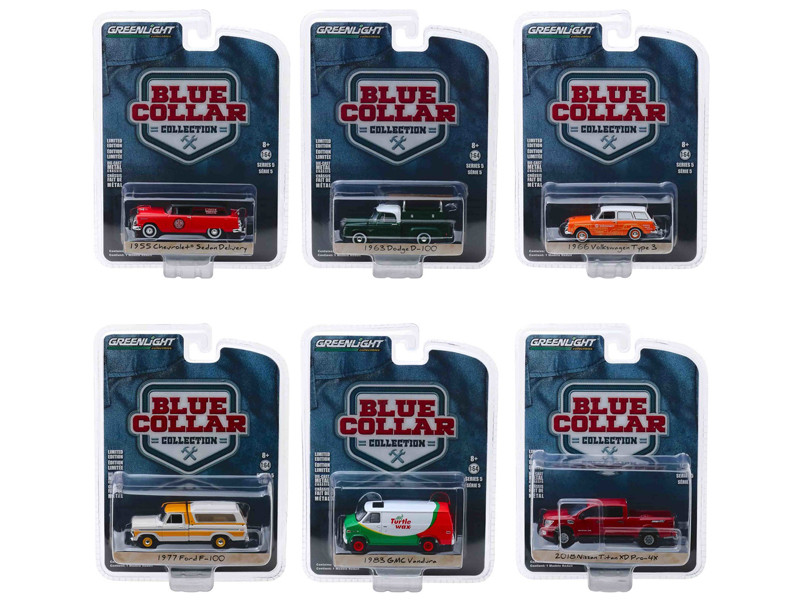 Blue Collar Collection Series 5 Set 6 pieces 1/64 Diecast Model Cars Greenlight 35120
