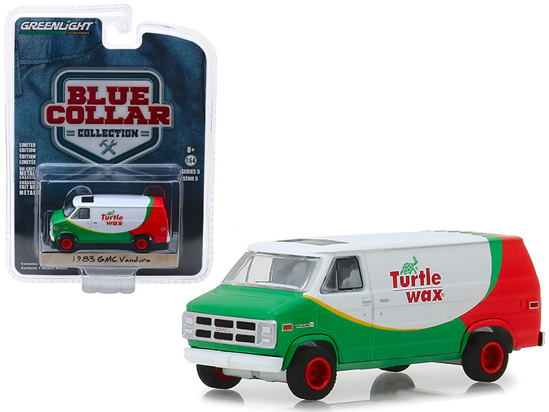 1983 GMC Vandura Van Turtle Wax Blue Collar Collection Series 5 1/64 Diecast Model Car Greenlight 35120 E