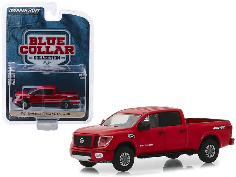 2018 Nissan Titan XD Pro-4X Pickup Truck Metallic Red \Blue Collar Collection\