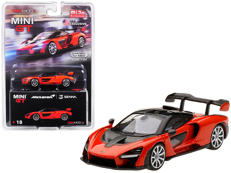 McLaren Senna Mira Orange Limited Edition 4800 pieces Worldwide 1/64 Diecast Model Car True Scale Miniatures MGT00018