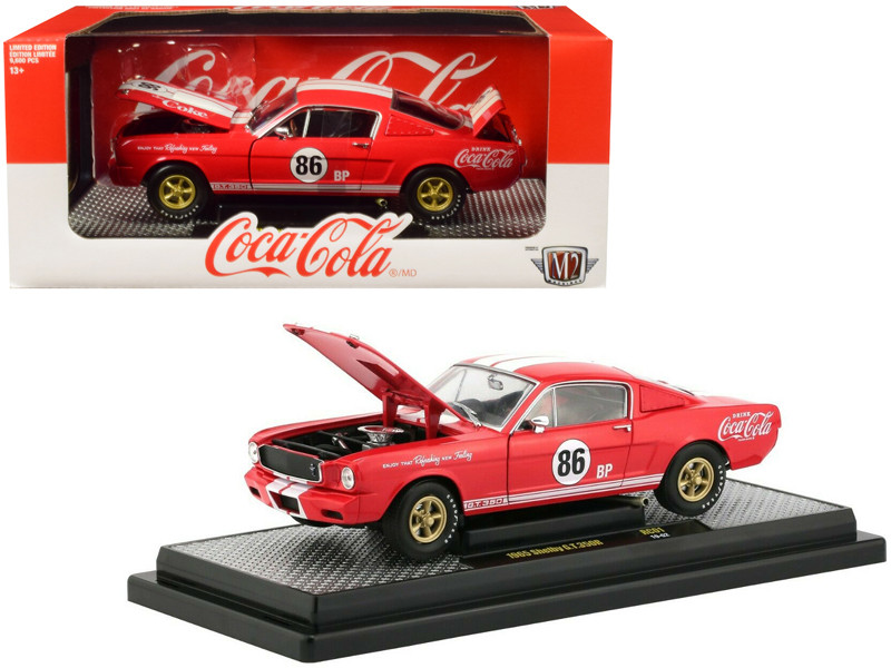 1965 Ford Mustang Shelby GT 350R #86 Coca Cola Coke Red Limited Edition 9600 pieces Worldwide 1/24 Diecast Model Car M2 Machines 50300-RC01