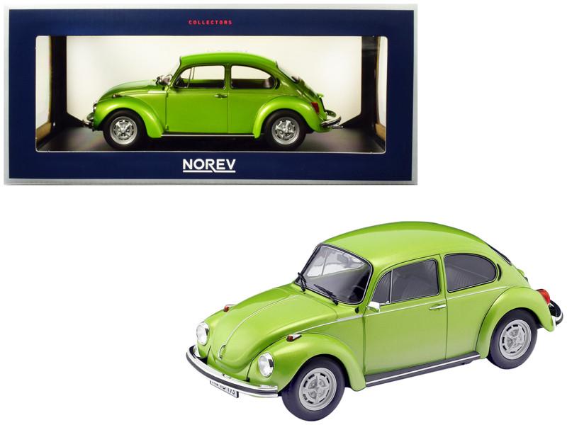 1973 Volkswagen Beetle 1303 Metallic Green 1/18 Diecast Model Car Norev 188523