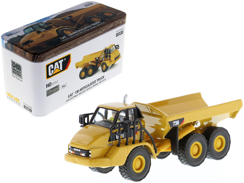 CAT Caterpillar 730 Articulated Dump Truck Operator High Line Series 1/87 HO Scale Diecast Model Diecast Masters 85130