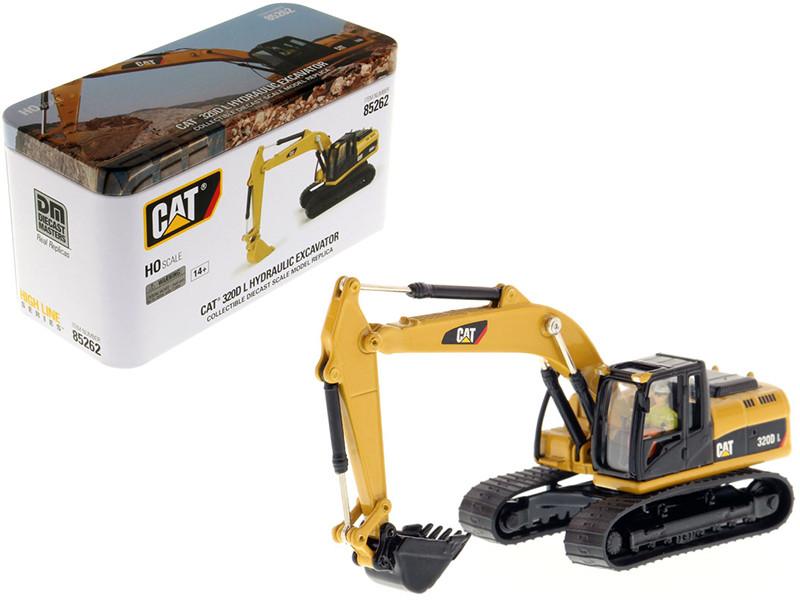 CAT Caterpillar 320D L Hydraulic Excavator Operator High Line Series 1/87 HO Scale Diecast Model Diecast Masters 85262