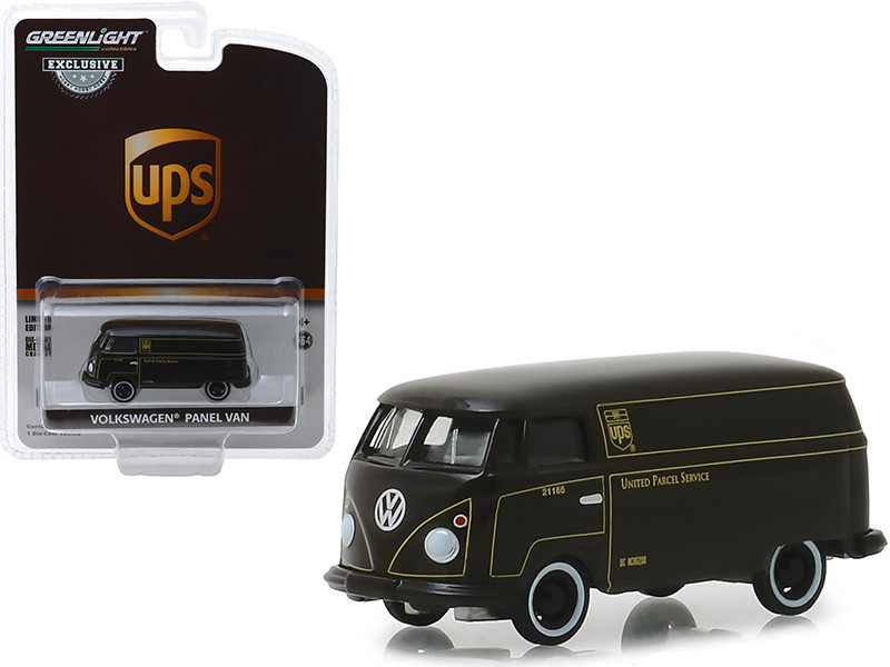 Volkswagen Panel Van Dark Brown United Parcel Service UPS Hobby Exclusive 1/64 Diecast Model Car Greenlight 30020