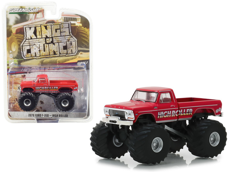 1979 Ford F-350 Monster Truck High Roller Kings of Crunch Series 3 1/64 Diecast Model Car Greenlight 49030 D