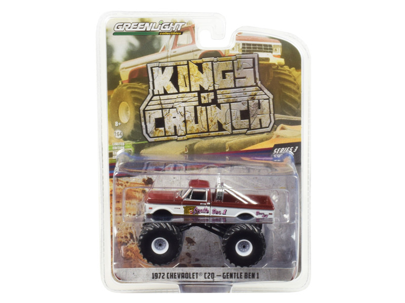 1972 Chevrolet C20 Monster Truck Gentle Ben 1 Kings of Crunch Series 3 1/64 Diecast Model Car Greenlight 49030 F