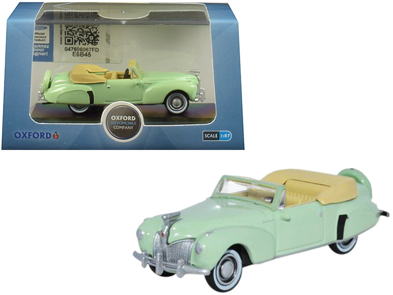 1941 Lincoln Continental Convertible Paradise Green 1/87 HO Scale Diecast Model Car Oxford Diecast 87LC41005