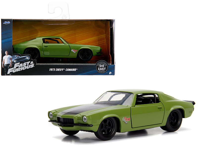 Dom's 1973 Chevrolet Camaro F-Bomb Green Fast & Furious Movie 1/32 Diecast Model Car Jada 99521