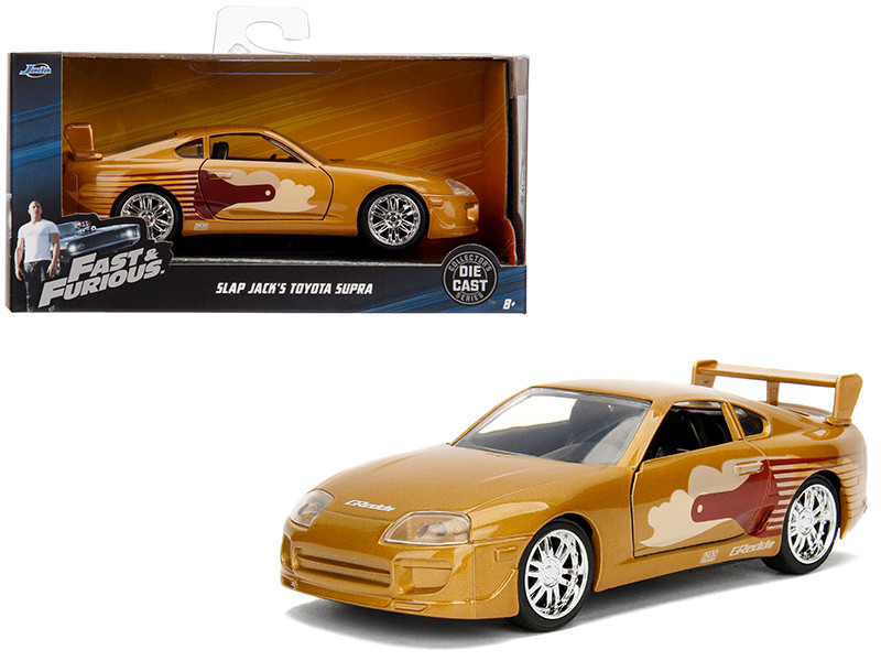 Slap Jack's Toyota Supra Gold Fast & Furious Movie 1/32 Diecast Model Car Jada 99542