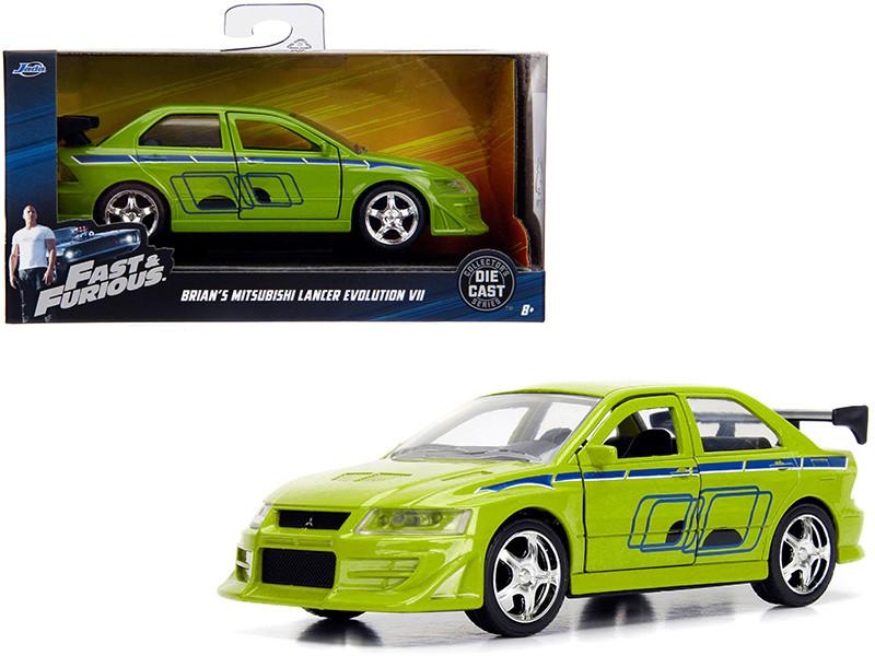 Brian's Mitsubishi Lancer Evolution VII Green Fast & Furious Movie 1/32 Diecast Model Car Jada 99789