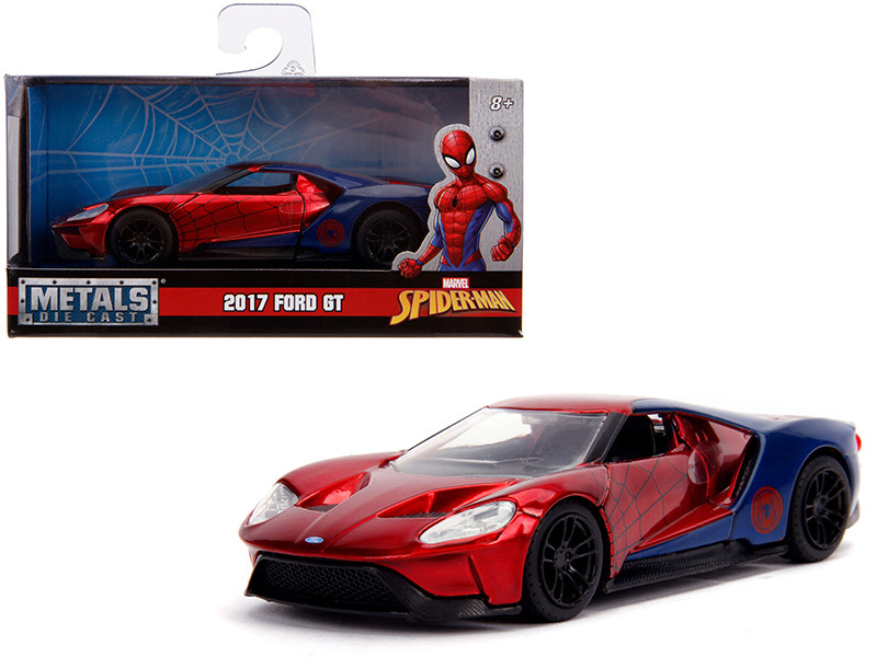 2017 Ford GT Spider-Man Theme Marvel Series 1/32 Diecast Model Car Jada 30291