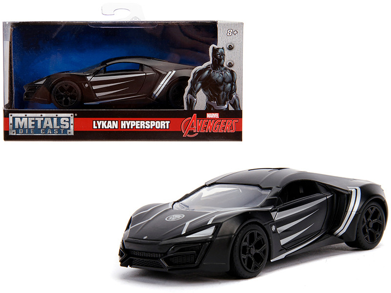 Lykan Hypersport Black Panther Theme Marvel Series 1/32 Diecast Model Car Jada 30302