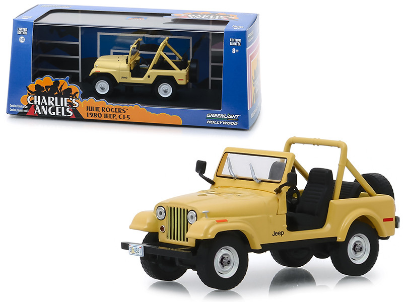 1980 Jeep CJ-5 Yellow Julie Roger's Charlie's Angels 1976 1981 TV Series 1/43 Diecast Model Car Greenlight 86333