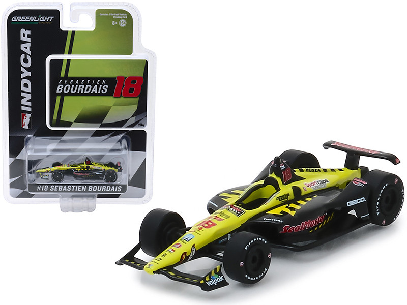 Honda Dallara Indy Car #18 Sebastien Bourdais SealMaster Dale Coyne Racing with Vasser Sullivan 1/64 Diecast Model Car Greenlight 10847