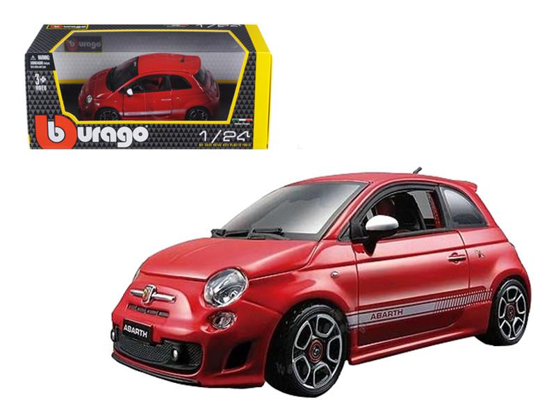 2008 Fiat Abarth 500 Red 1/24 Diecast Car Model Bburago 22111