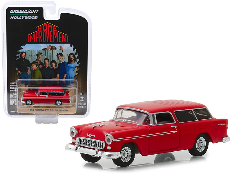 1955 Chevrolet Bel Air Nomad Red Home Improvement 1991 1999 TV Series Hollywood Series Release 23 1/64 Diecast Model Car Greenlight 44830 E
